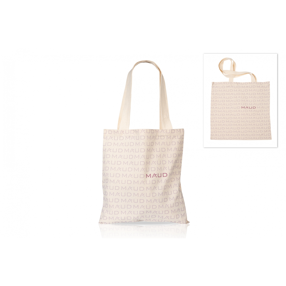 VETEMENTS - MAUD COSMETICS - TOTE BAG MAUD ECRU (SERIE LIMITEE)