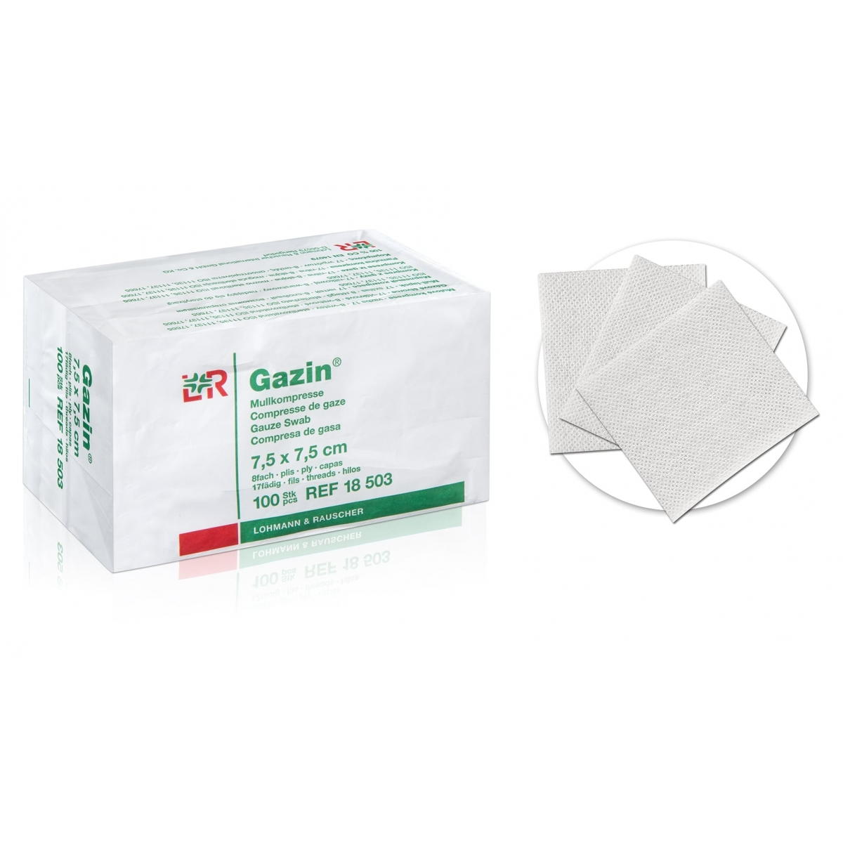 Hygiène - No Name - COMPRESSE DE GAZE NON STERILE 7,5 cm x 7,5 cm (x100)