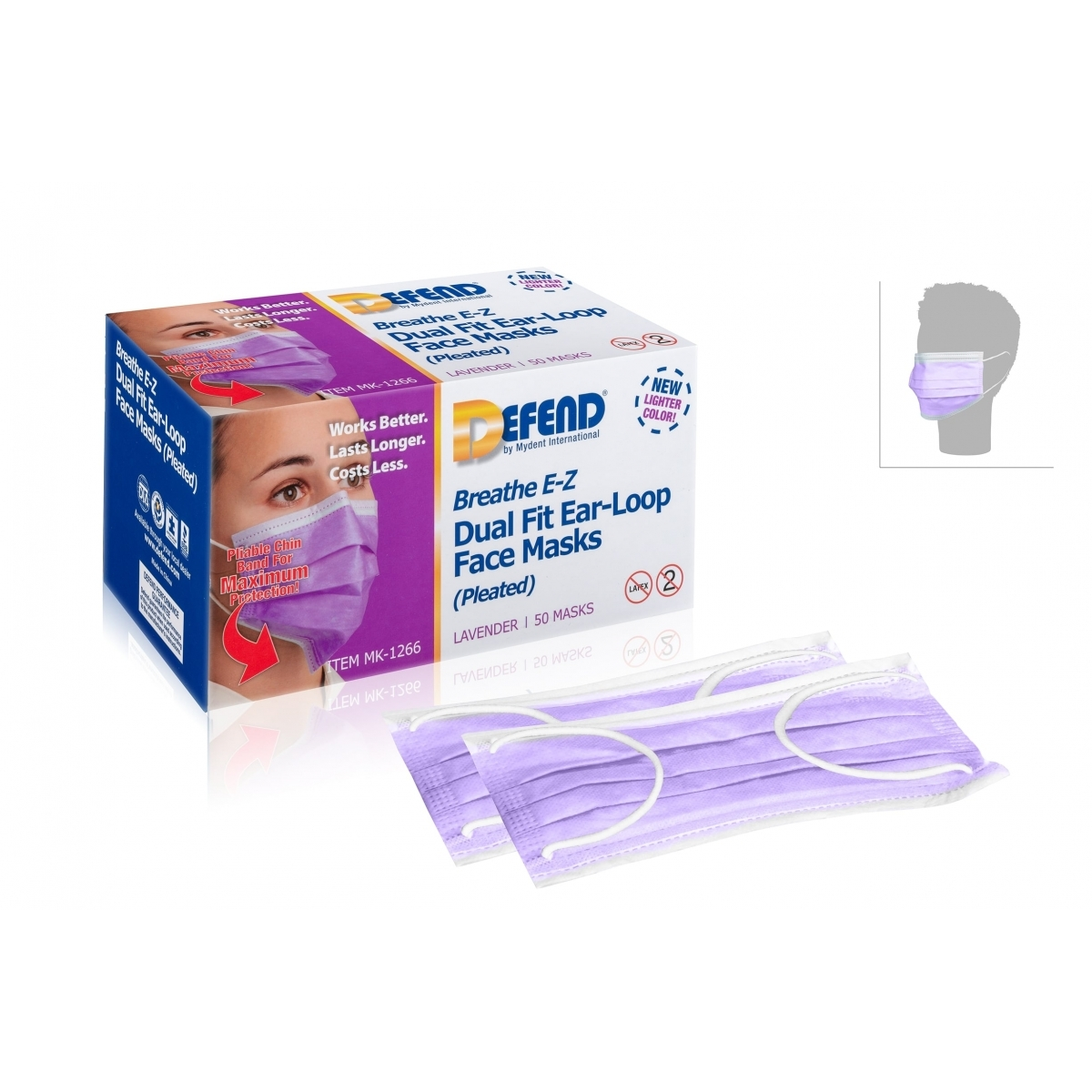PROTECTIONS - DEFEND - MASQUE CHIRURGICAL DE PROTECTION VIOLET (x50)