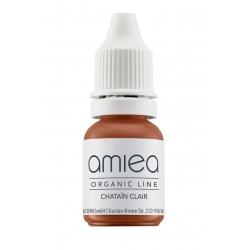 Organicline (10 ml) -  - PIGMENTS AMIEA ORGANICLINE CHATAIN CLAIR, Flacon 10 ml