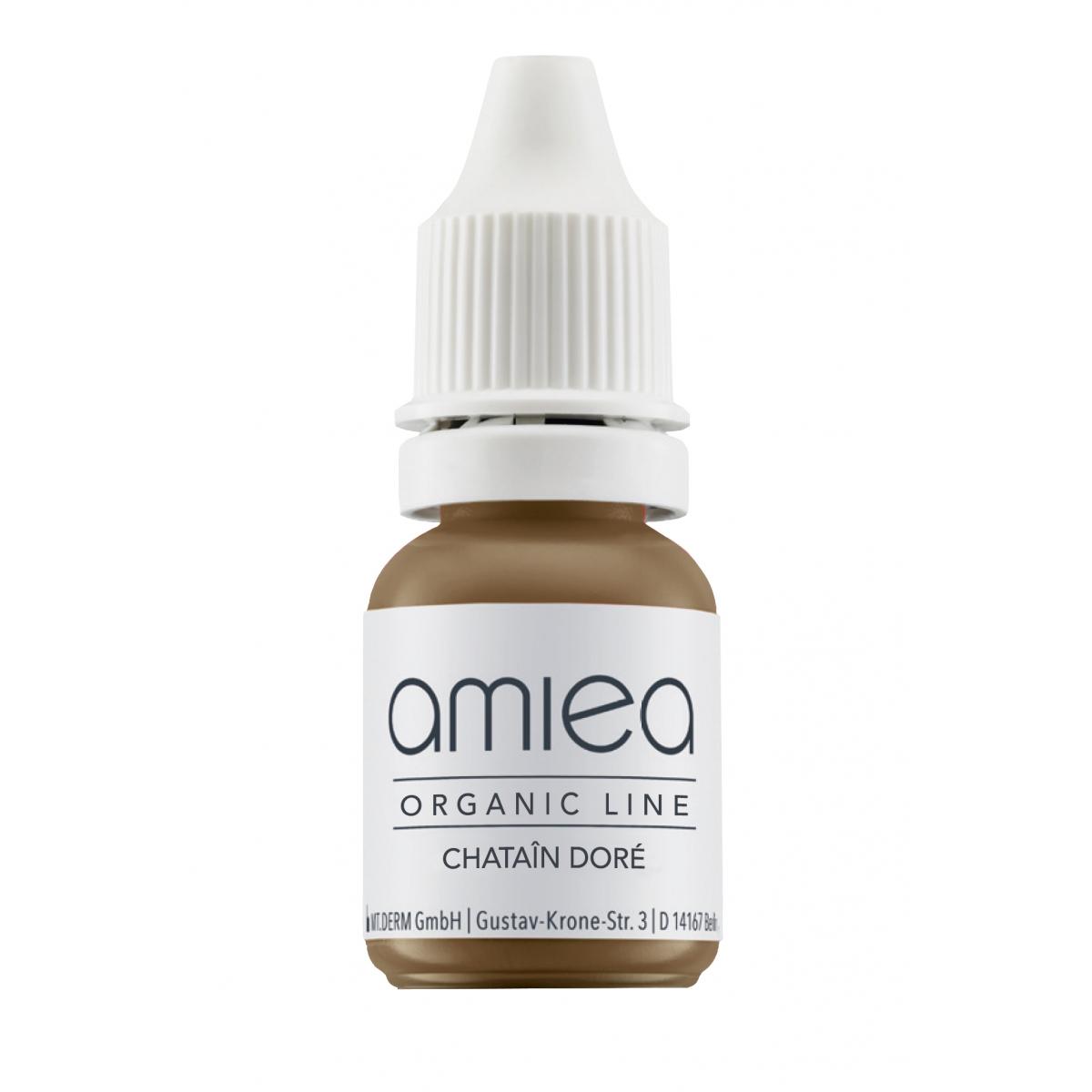 Organicline (5 ml)  - PIGMENTS AMIEA ORGANICLINE CHATAIN DORE, Flacon 5 ml