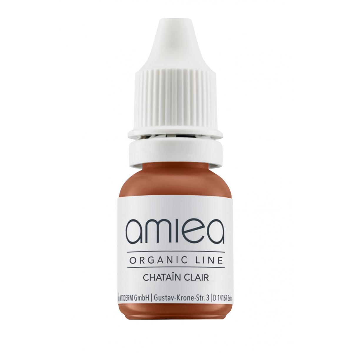 Organicline (5 ml)  - PIGMENTS AMIEA ORGANICLINE CHATAIN CLAIR, Flacon 5 ml