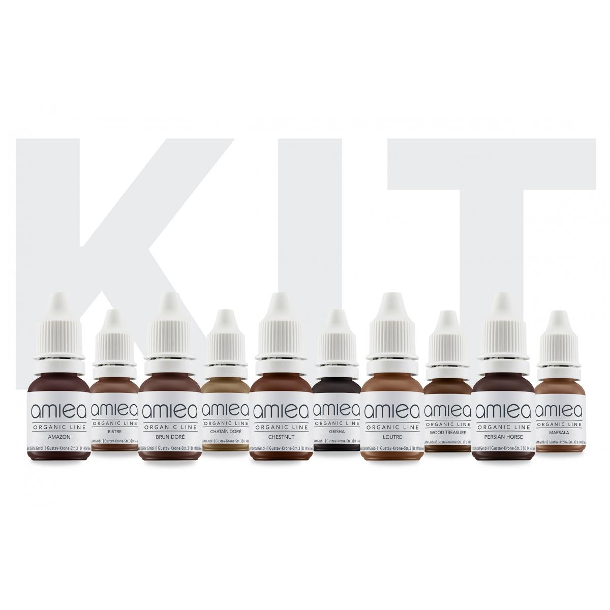 Kits Pigments - KIT ESSENTIELS ORGANICLINE - SOURCILS 5 ml (AMIEA)