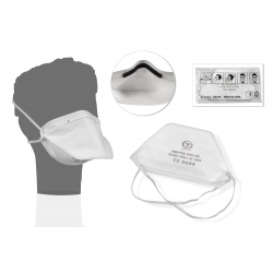 PROTECTIONS -  - MASQUE CHIRURGICAL DE PROTECTION RESPIRATOIRE BLANC FFP2 (x20)