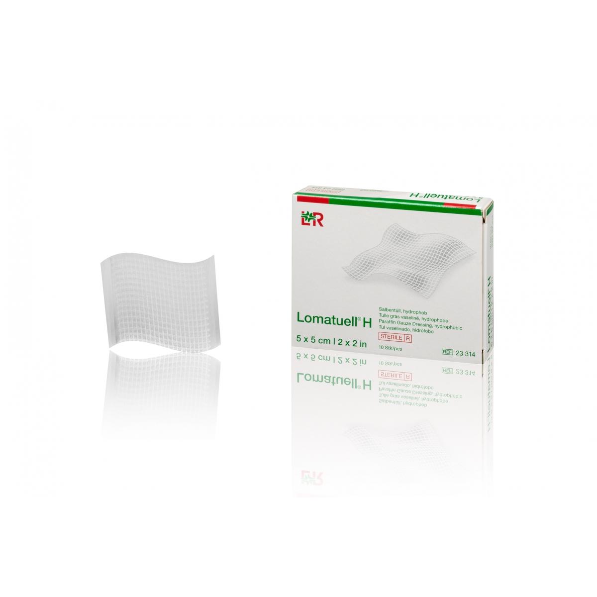 USAGE UNIQUE - GAZE HYDROPHILE 100% COTON + VASELINE LOMATUELL H LR (x10)