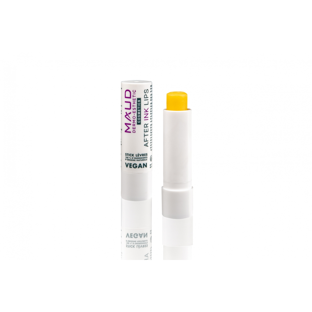 SOINS DERMOPIGMENTATION - MAUD COSMETICS - STICK CICATRISANT DERMOPIGMENTATION LEVRES AFTER INK LIPS VEGAN (4 g)