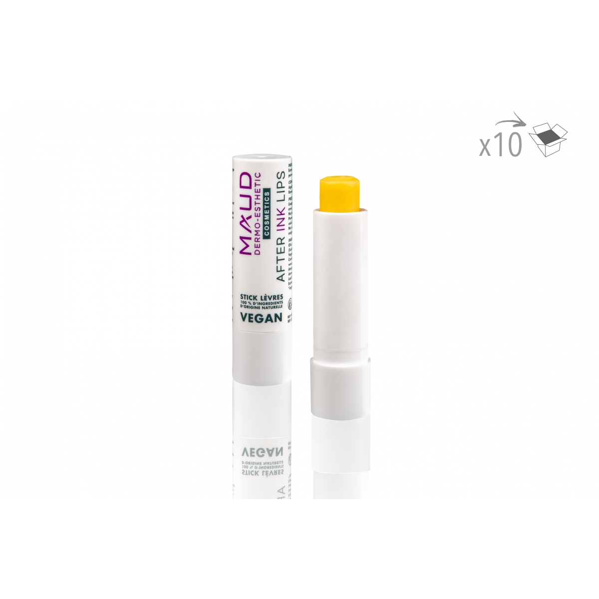 SOINS DERMOPIGMENTATION - NO NAME - STICK CICATRISANT DERMOPIGMENTATION LEVRES AFTER INK LIPS VEGAN (4 g) (x10)