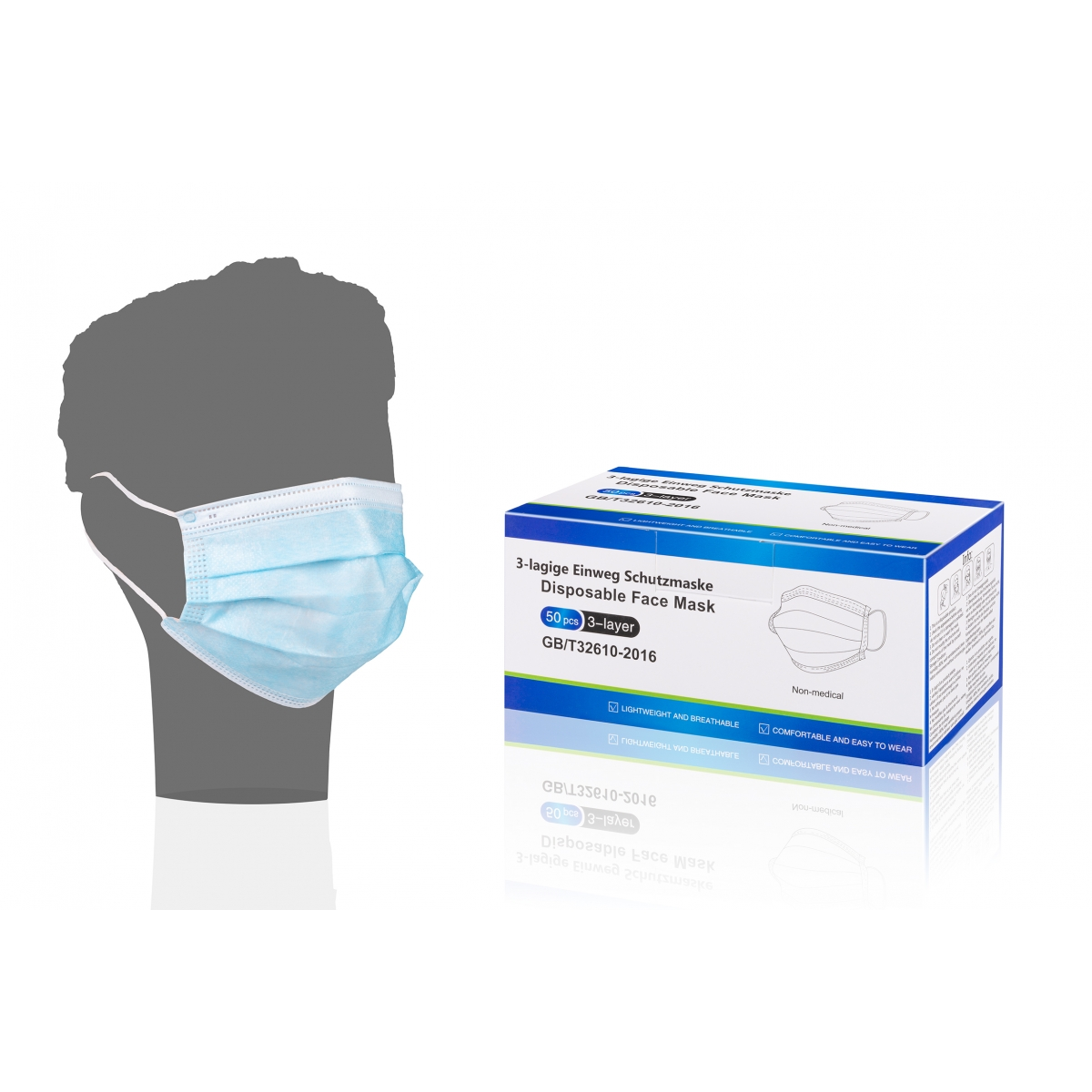 CONSOMMABLES - LCH - MASQUE CHIRURGICAL DE PROTECTION VISITEUR (x50)