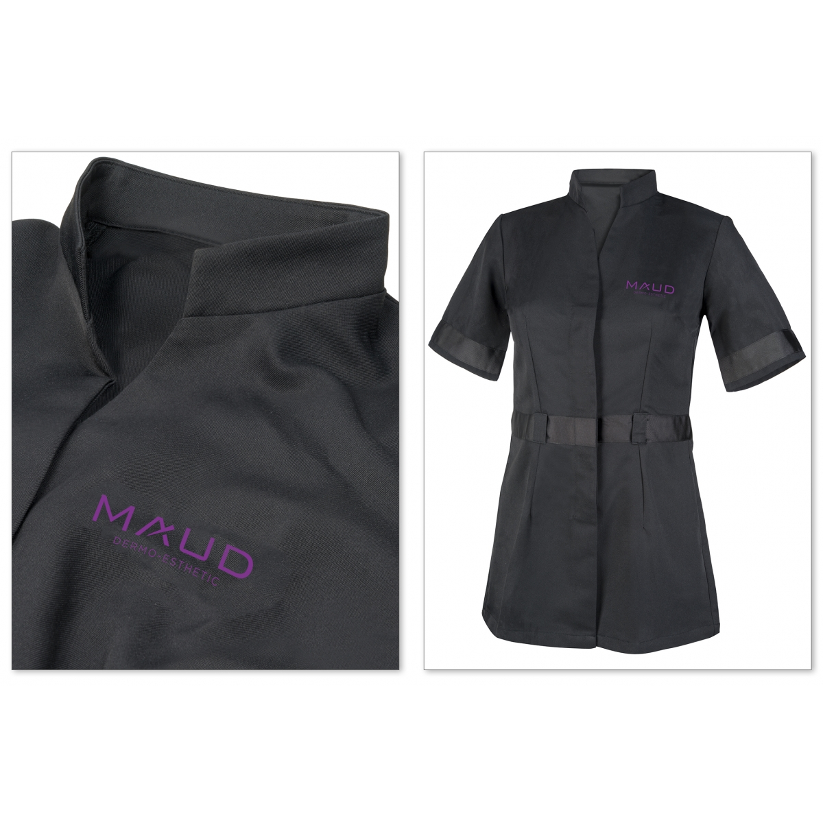 VETEMENTS - MAUD PROFESSIONAL SHOP - BLOUSE PROFESSIONNELLE FEMME MAUD NOIR (L)