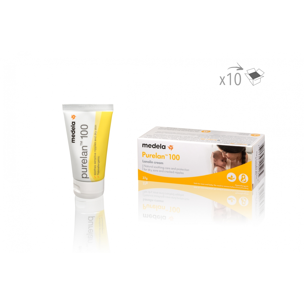 SOINS CANCER - CREME HYDRATANTE SOIN MAMELON POST PIGMENTATION LIFE REPAIR MEDELA (37 g) (x10)