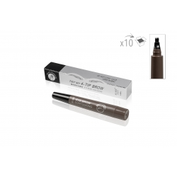 SOIN DU REGARD - MAUD COSMETICS - STYLO MICROBLADING SOURCILS A FOURCHE IMPERMEABLE 4 POINTES GRIS FONCE (x10)