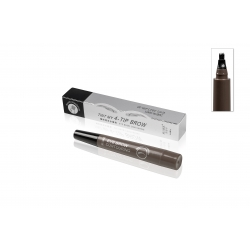 SOIN DU REGARD - MAUD COSMETICS - STYLO MICROBLADING SOURCILS A FOURCHE IMPERMEABLE 4 POINTES GRIS FONCE