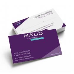 ACADEMIES - MAUD PROFESSIONAL SHOP - CARTE DE RENDEZ-VOUS MODELE ACADEMY (x50)