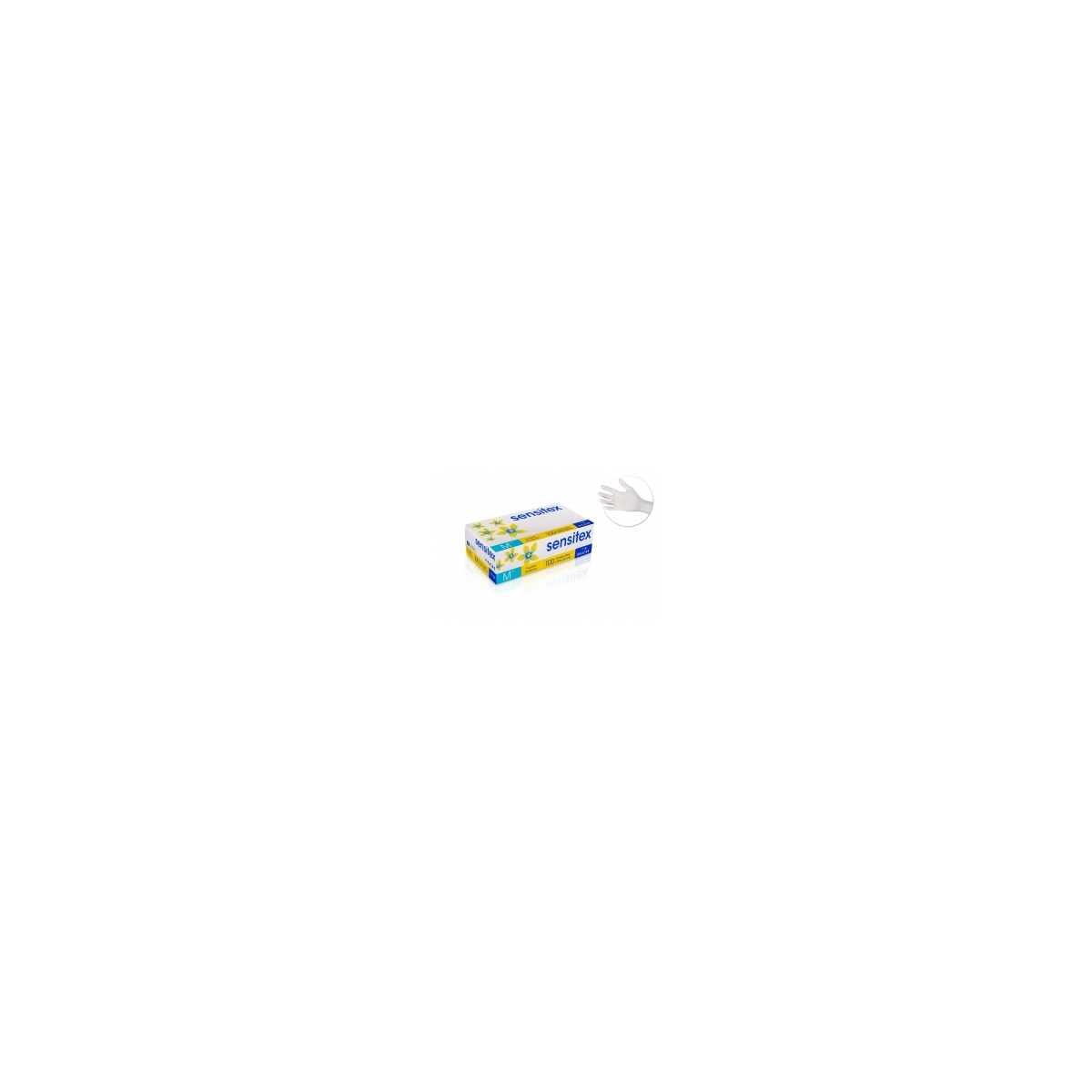 PROTECTIONS - SENSITEX - GANTS LATEX BLANC (x100)