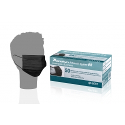 CONSOMMABLES - LCH - MASQUE CHIRURGICAL DE PROTECTION VISITEUR TYPE IIR NOIR  (x50)