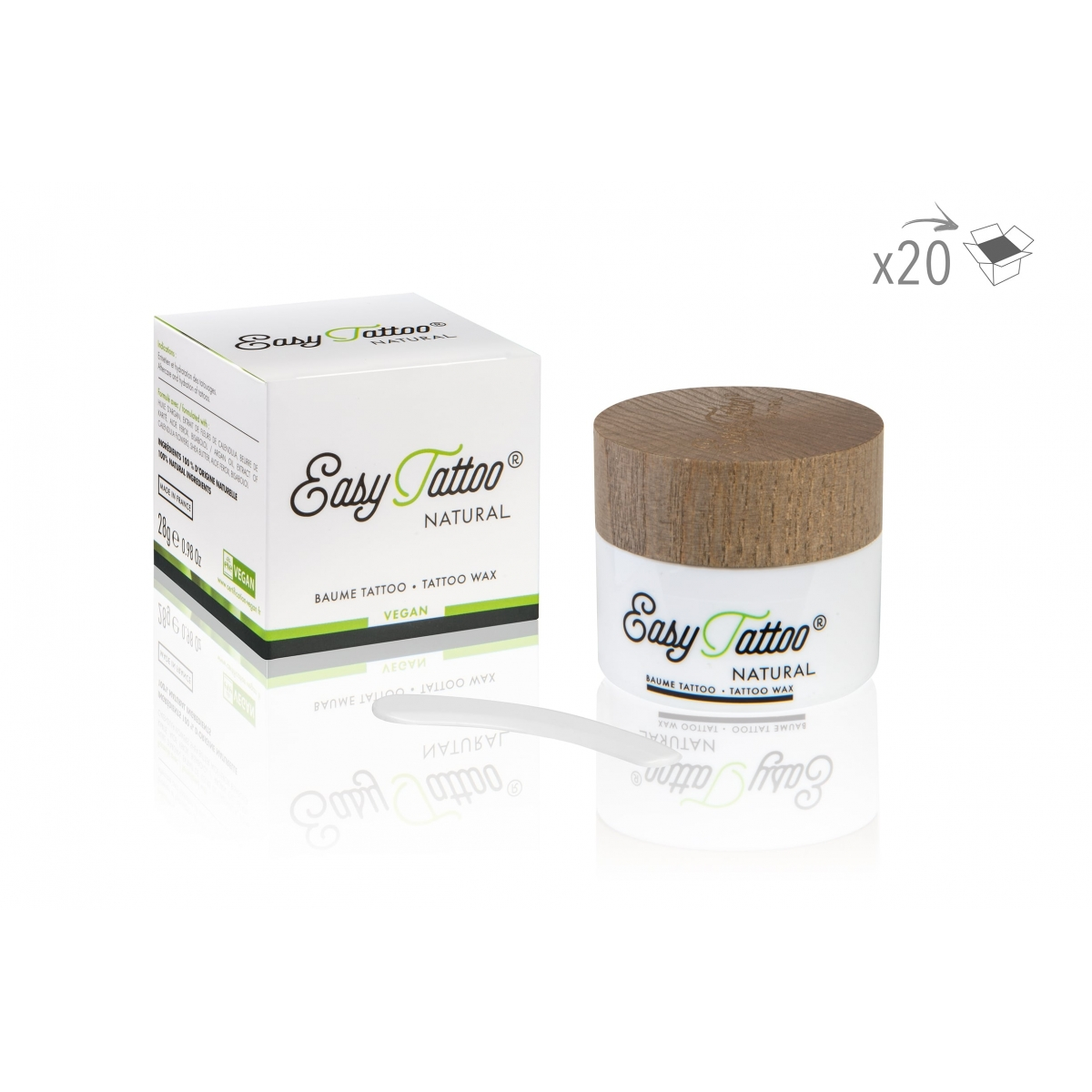 Revente - Easytatoo - BAUME VEGAN EASY TATOO (28 g) (x20)